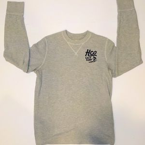 Men's Grey Hollister Long Sleeved Sweater